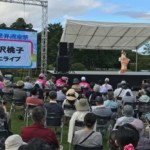 大沢桃子が平泉世界遺産祭に出演。感動いっぱいに、新曲「どんどはれ」を熱唱