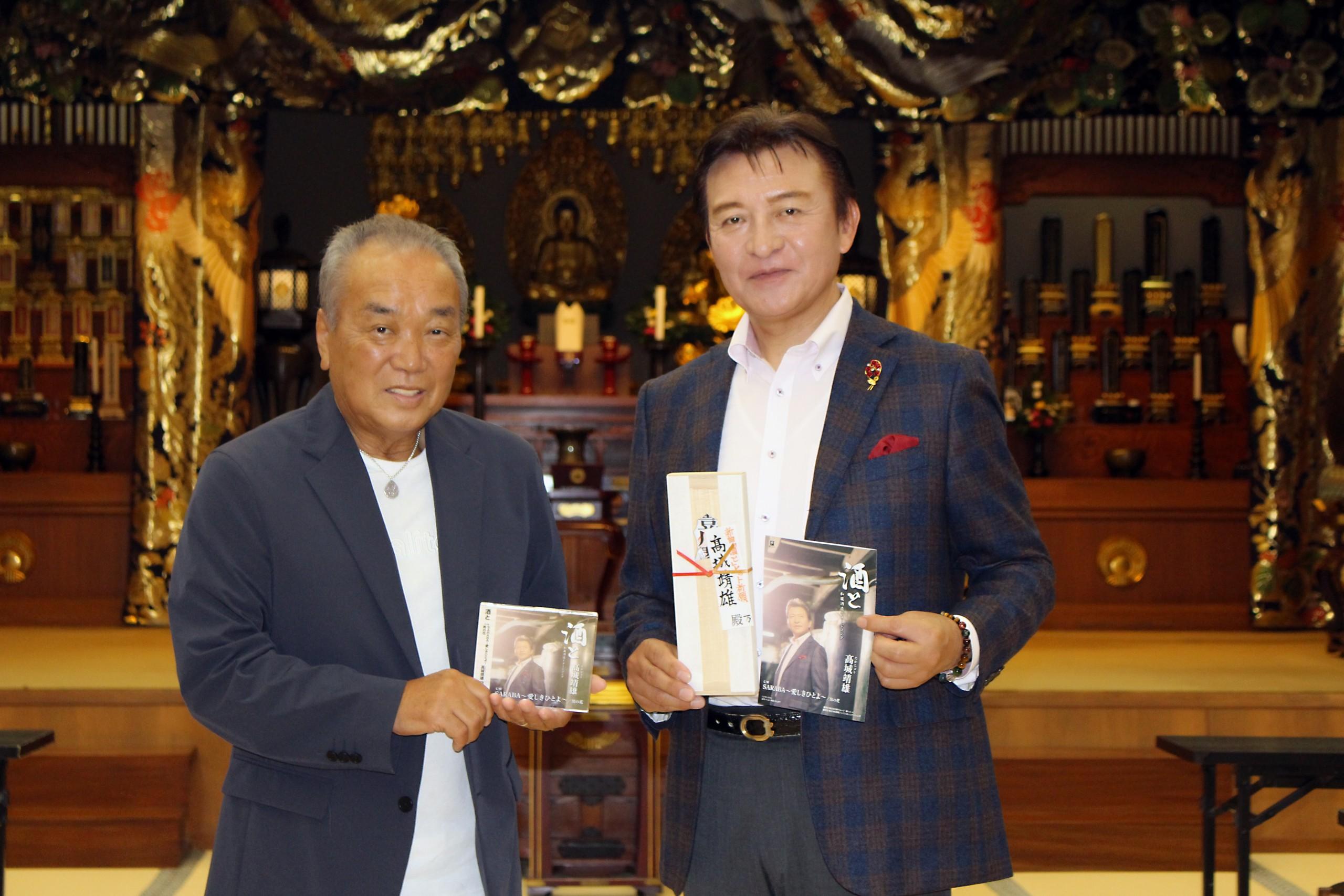 髙城靖雄と美樹克彦(左)